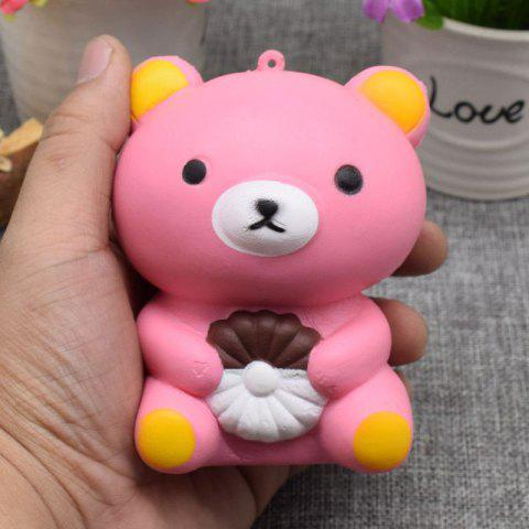 Fancy Stress Relief Simulation Bear Slow Rising Squishy Toy PINK