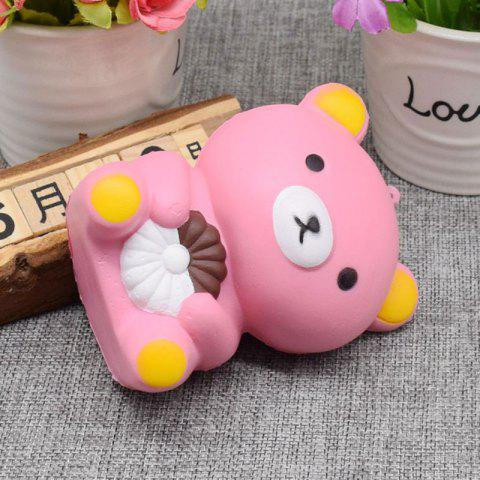 Buy Stress Relief Simulation Bear Slow Rising Squishy Toy - PINK  Mobile