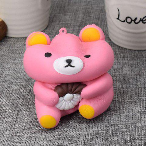 Latest Stress Relief Simulation Bear Slow Rising Squishy Toy - PINK  Mobile