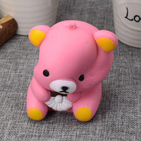 Outfits Stress Relief Simulation Bear Slow Rising Squishy Toy - PINK  Mobile