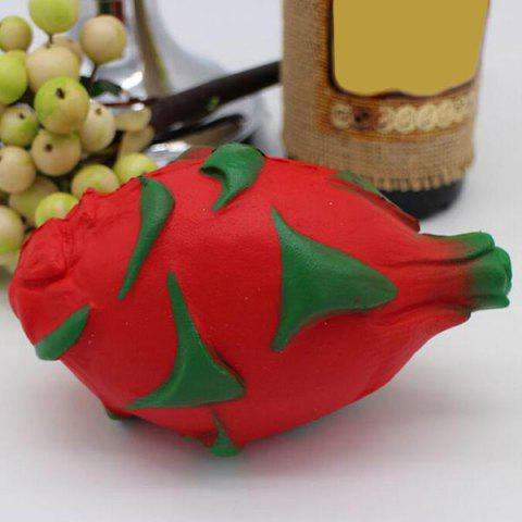 Buy Simulation Fruit Slow Rising Squishy Pitaya Toy - RED  Mobile