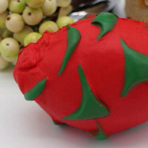 Outfit Simulation Fruit Slow Rising Squishy Pitaya Toy - RED  Mobile