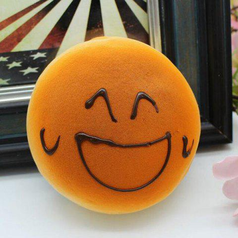 Chic Smiling Face Bread Refrigerator Paste Simulation Food Squishy Toy - ORANGE  Mobile
