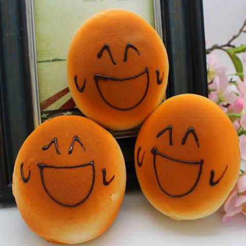 Latest Smiling Face Bread Refrigerator Paste Simulation Food Squishy Toy - ORANGE  Mobile