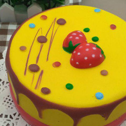 New Slow Rising Squishy Toy Simulation Strawberry Mousse Cake - YELLOW  Mobile