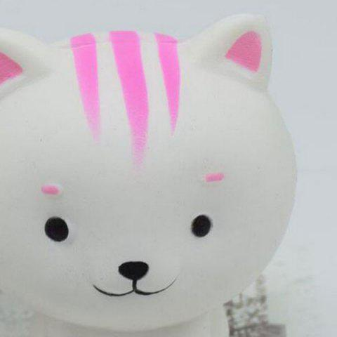 Sale PU Slow Rising Squishy Animal Toy Simulation Cat - WHITE  Mobile