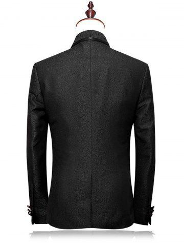 Outfits One Buttton Shawl Collar Blazer Suit - 4XL BLACK Mobile