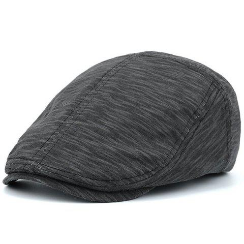 Fancy Nostalgic Lines Retro Newsboy Hat FULL BLACK