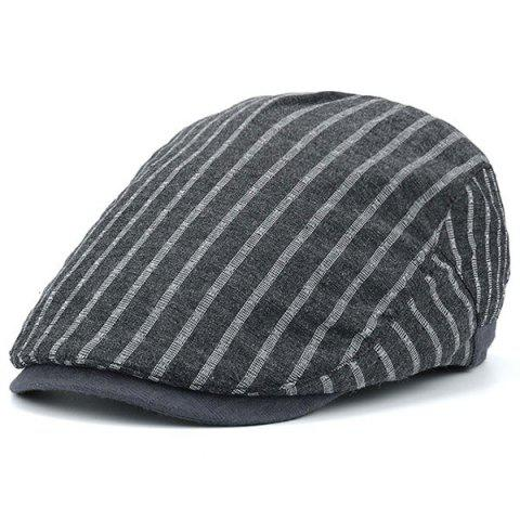 Outfits Stripe Sunscreen Flat Cap GRAY