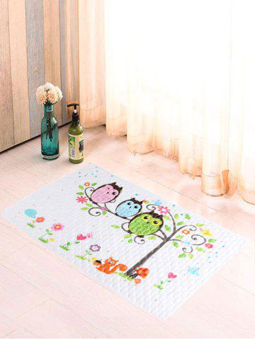 Outfit Cartoon Birds Fish Scale Antiskid Bathroom Rug - COLORFUL  Mobile