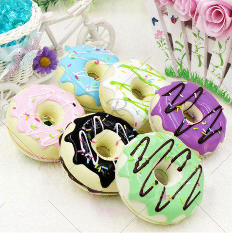 Hot PU Sweet Donut Home Decor Model Squishy Toy - 8.5*8.5*3CM PURPLE Mobile