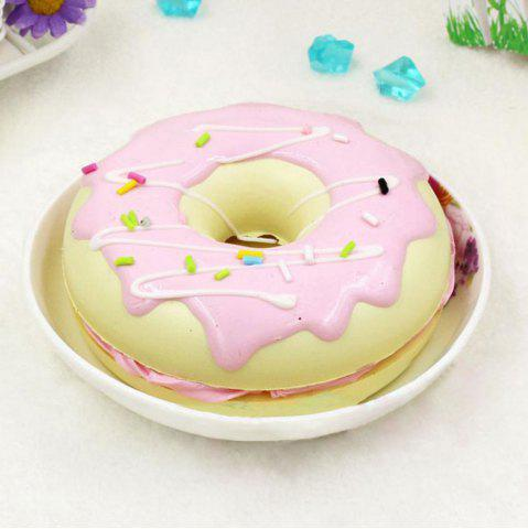 Affordable PU Sweet Donut Home Decor Model Squishy Toy - 8.5*8.5*3CM PINK Mobile