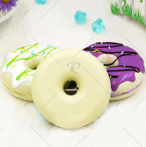 Fashion PU Sweet Donut Home Decor Model Squishy Toy - 8.5*8.5*3CM PINK Mobile