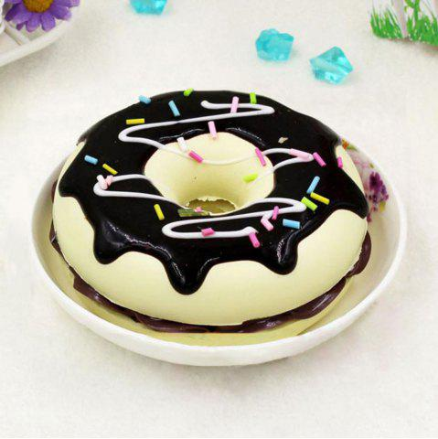 Hot PU Sweet Donut Home Decor Model Squishy Toy - 8.5*8.5*3CM BLACK Mobile