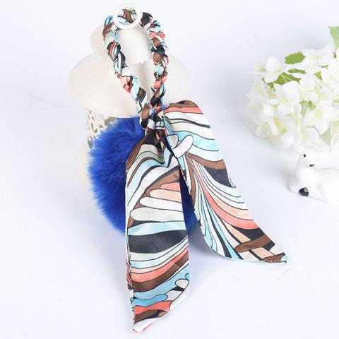 Best Silk Bowknot Puff Ball Keyring