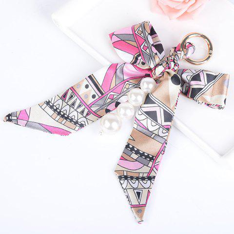 Outfit Fake Pearls Silk Bowknot Keychain - TUTTI FRUTTI  Mobile