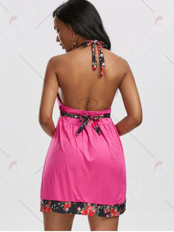 Best Backless Halter Mini Beach Dress - M TUTTI FRUTTI Mobile
