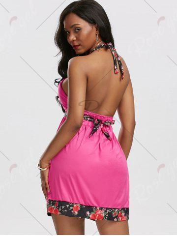 Hot Backless Halter Mini Beach Dress - M TUTTI FRUTTI Mobile