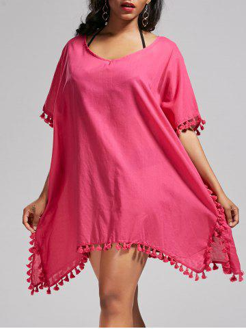 Discount Oversized Batwing Sleeve Swing Tunic Cover Up Dress