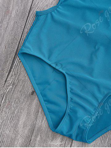 New Back Strappy Padded Swimwear - L LAKE BLUE Mobile