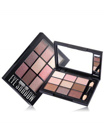 Cheap 9 Colors Mineral Eyeshadow Palette with Brush #03