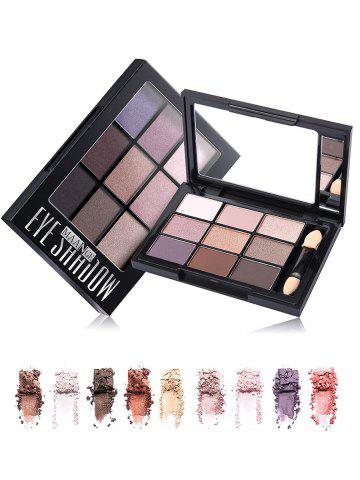 New 9 Colors Mineral Eyeshadow Palette with Brush