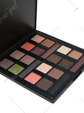 Outfit 20 Colours Mineral Matte Shimmer Eyeshadow Palette - #01  Mobile