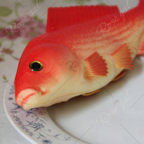 Chic PU Simulation Carp Fish Model Squishy Toy - RED  Mobile