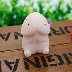 Stress Relief Toy Squishy Squeeze Mochi Dingding - YELLOWISH PINK