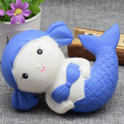 Cartoon Simulation Toy Slow Rising Squishy Mermaid - Bleu