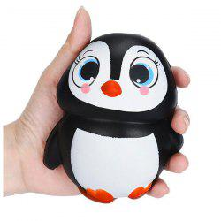 Cartoon Squishy Penguin Slow Rising Simulation Toy - BLACK WHITE