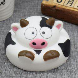 Slow Rising Squishy Toy Cartoon Simulation Vache au lait - Blanc-Noir