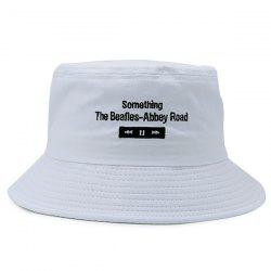 Letters Embroidered Flat Top Bucket Cap