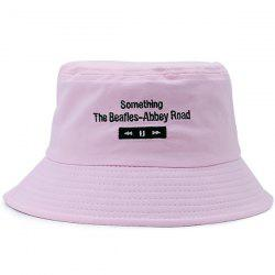 Letters Embroidered Flat Top Bucket Cap - LIGHT PINK