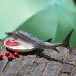 Creative Toy PU Simulation Chinese Sturgeon Fish Model - GRAY