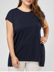 Dolman Sleeve Back Slit Plus Size T-shirt