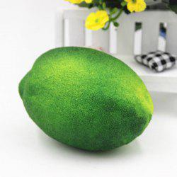Stress Relief Simulated Lemon Shape Squishy Toy - GREEN