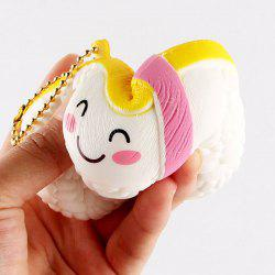 Anti Stress Cartoon Simulation Sushi Squishy Toy - Blanc