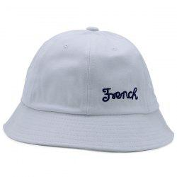 Round Top Letters Embroidered Bucket Hat