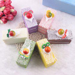 Random Slow Rising Fruit Cake PU Squishy Toy - RANDOM COLOR