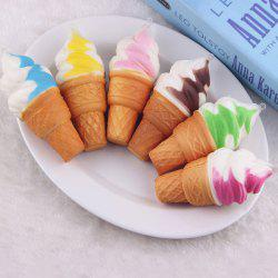Random PU Ice Cream Slow Rising Squishy Toy - Couleur Aléatoire