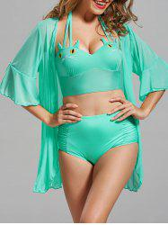 Cat Shape Halter Bikini with Cover-Up