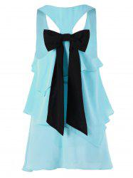 Racerback Layered Bowknot Party Tunic Top