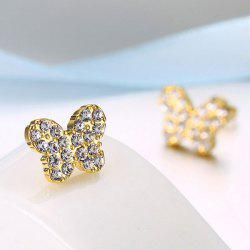 Rhinestone Tiny Butterfly Stud Earrings
