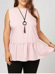 Ruffled Plus Size Peplum Tank Top