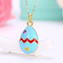 Teardrop Heart Egg Pendant Necklace