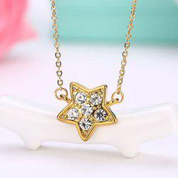 Rhinestone Collarbone Star Pendant Necklace