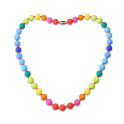 Silicone Rainbow Beaded Necklace