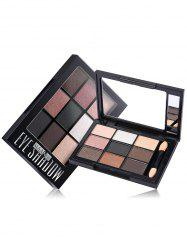 9 Colors Mineral Eyeshadow Palette with Brush