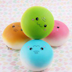 Random Kawaii Emoji Squishy Pendant Bun Key Chain - RANDOM COLOR